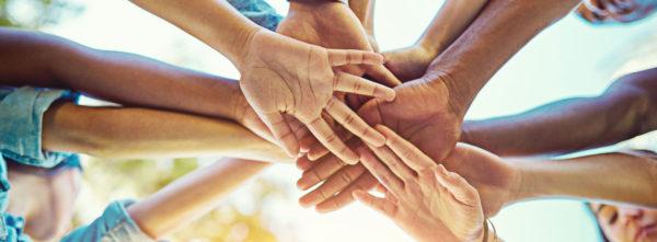 interlinking hands